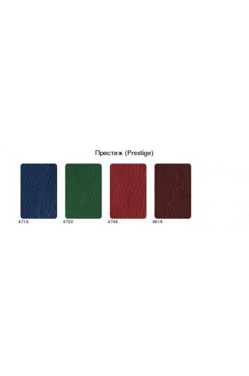 Ежедневник датированный А5 Престиж зелёный, серо-синяя печать