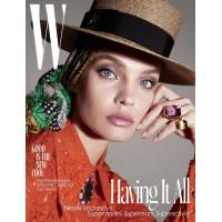 Наталья Водянова на обложке W Magazinе