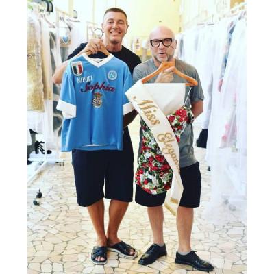 Софи Лорен и Диего Марадонна на показе коллекции Dolce&Gabbana