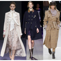 Модные пальто в стиле милитари