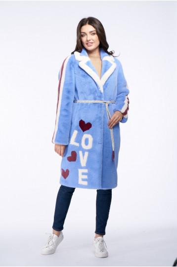 Женская куртка из эко меха норки