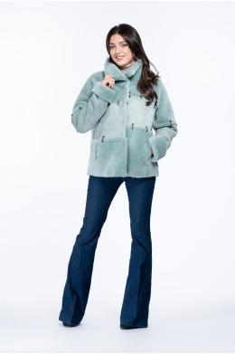 Женская куртка из эко меха керли с воротником