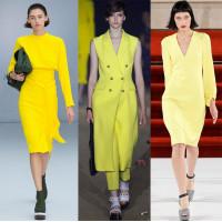 Желтый цвет в одежде – новый тренд будущего лета
