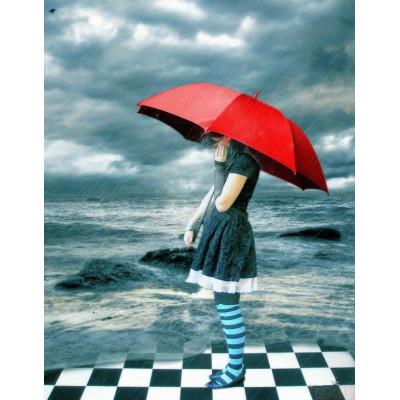 В дождливый день и с ярким зонтом!