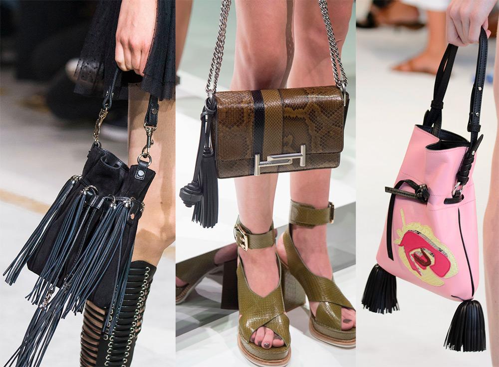 Кожаные сумки с бахромой